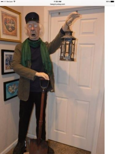 Here is a customers life size Caretaker they built using our head - life size halloween decorations