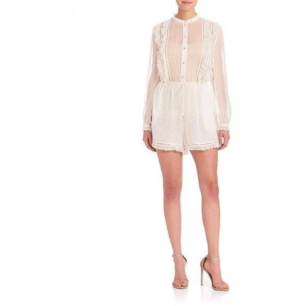 6575c7c838e Zimmermann Mischief Frill Playsuit ( 620) ❤ liked on Polyvore featuring  jumpsuits