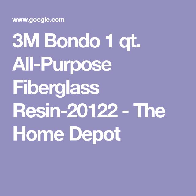 3m Bondo 1 Qt All Purpose Fiberglass Resin 20122 The Home Depot
