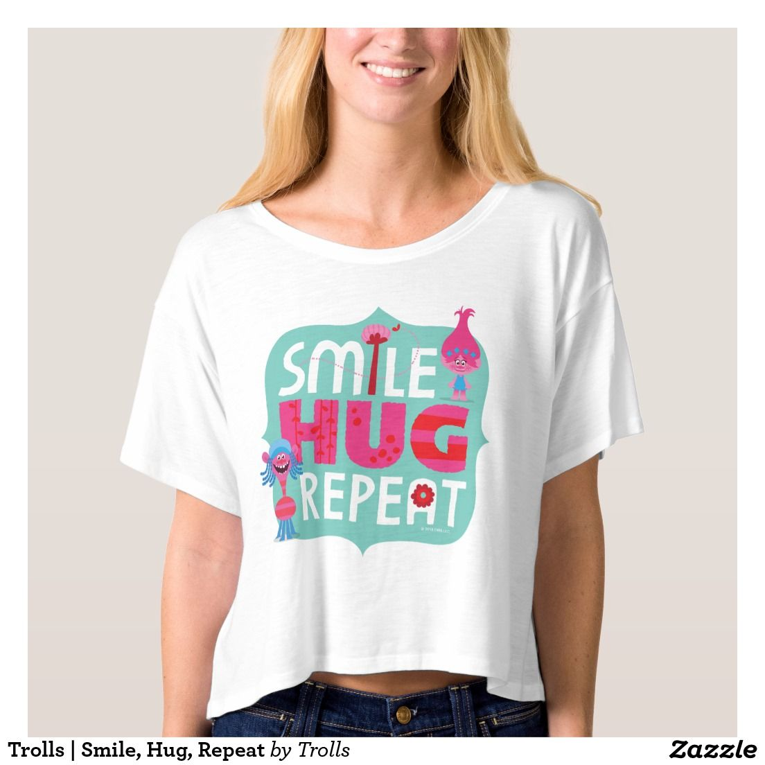 fdc17855 Trolls | Smile, Hug, Repeat T-shirt | Zazzle.com in 2019 | Trolls ...