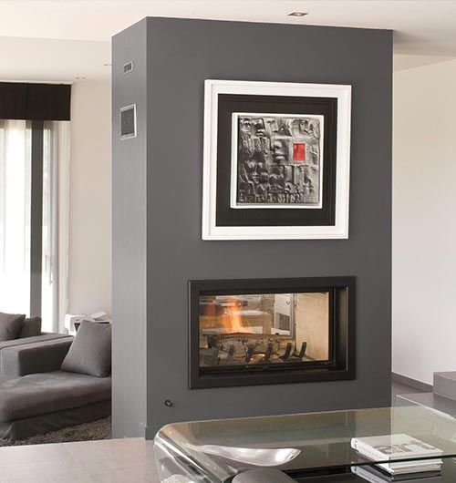 The Axis H1200DS double sided inbuilt wood fire is a French panoramic steel firebox with breathtaking sentiments and an unbelievable heating performance..