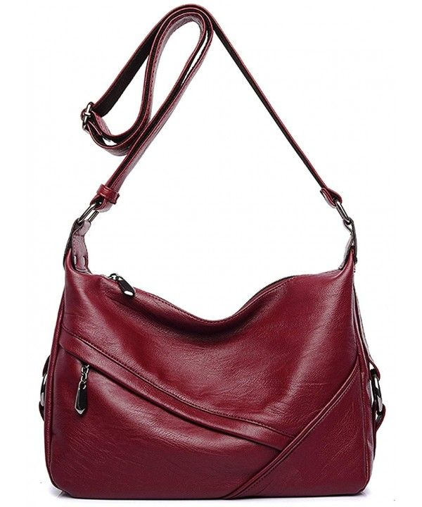 ad3cf0172234 Women's Retro Sling Shoulder Bag from Covelin- Leather Crossbody ...