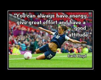 Carli Lloyd Quotes Amusing Soccer Gift Wall Art Daughter Motivation Wall Artarleyart