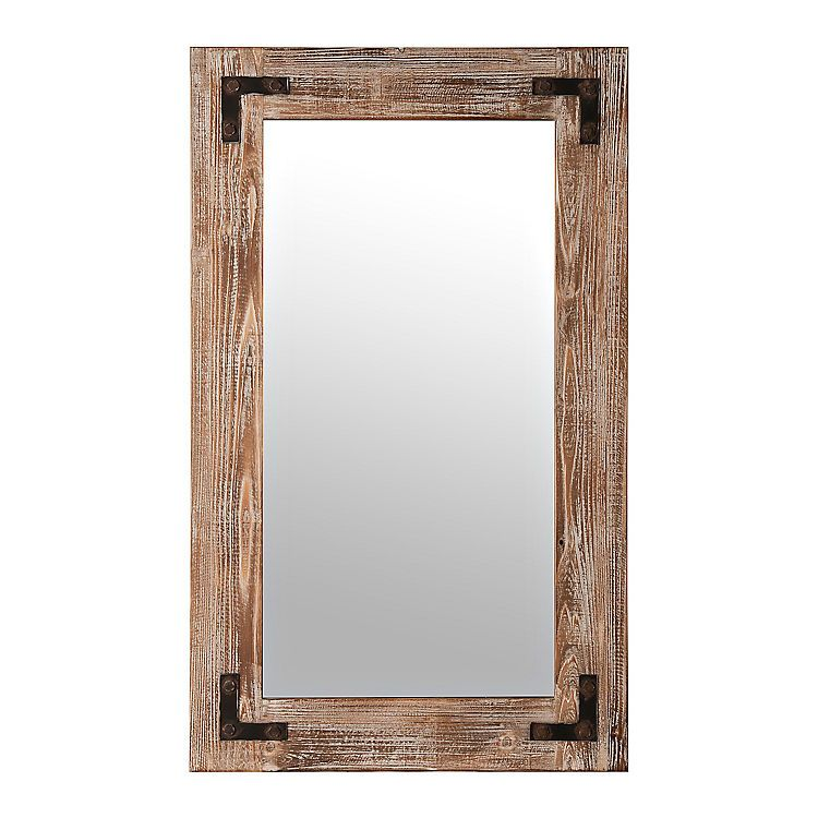 Rustic Weathered Wood Frame Mirror | Frame mirrors, Weathered wood ...