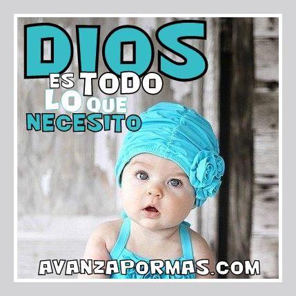 """(POSTAL con Frase) """"DIOS es todo lo que necesito..."""" -> Imágenes Cristianas"""