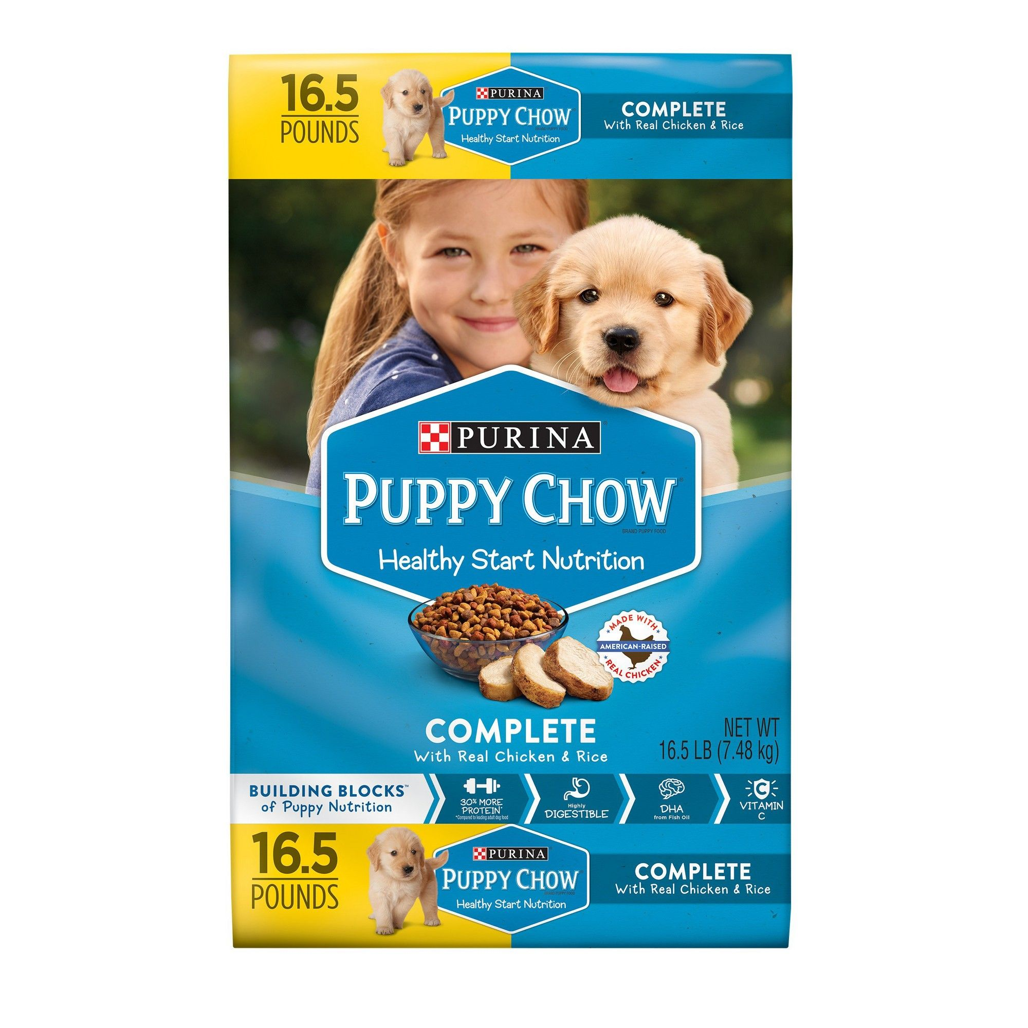 Purina Puppy Chow Complete Chicken Dry Dog Food 16 5lbs Purina