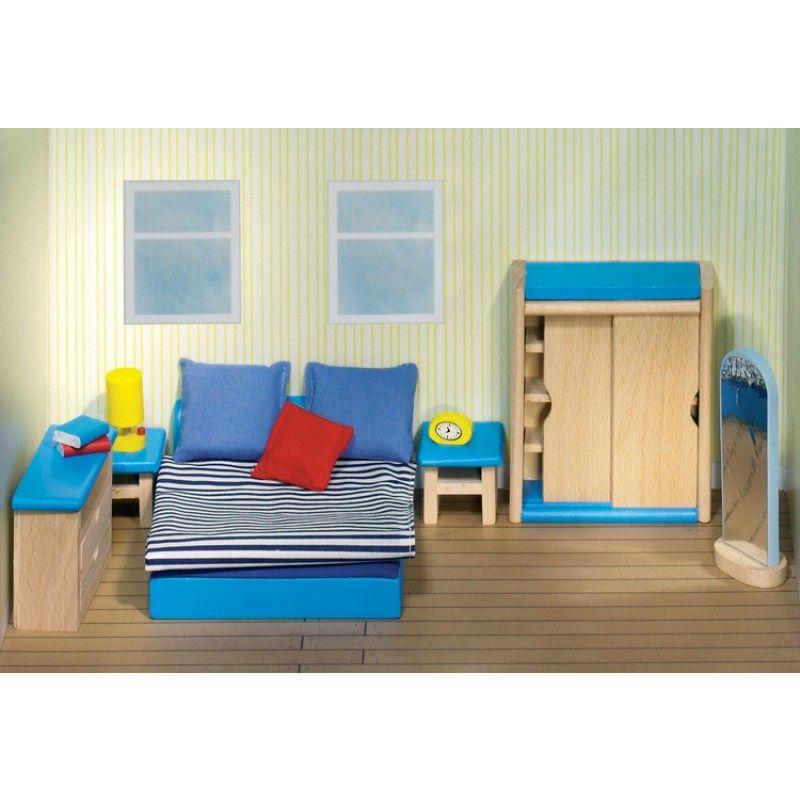 slaapkamer meubelset poppenhuis 14 delig goki poppenhuis