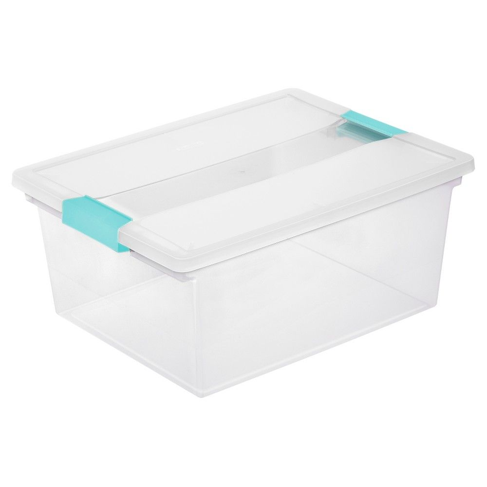 Sterilite Deep Clip Box - Clear with Blue Latch | Products
