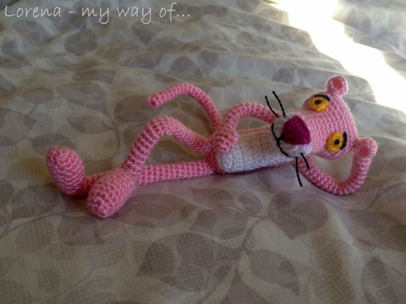 Amigurumi Free Pattern Pink Panther : my way of...: Amigurumi Pink Panther / Pantera Rosa ...
