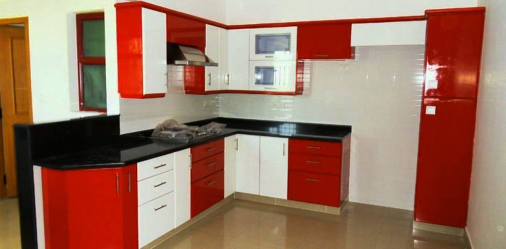 Superieur Modular Kitchen Designs Red White. Home » Modular Kitchen Designs Red White