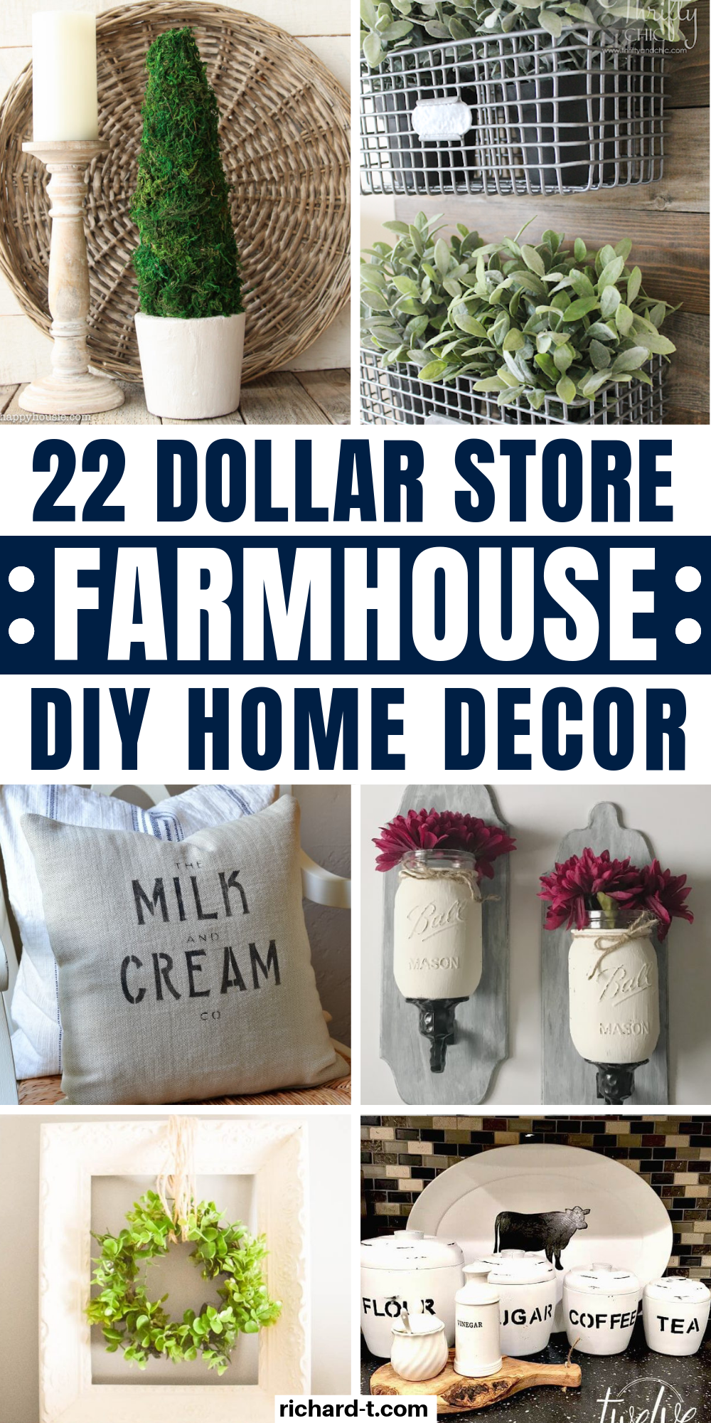 22 Amazing Dollar Store DIY Farmhouse Decor Ideas