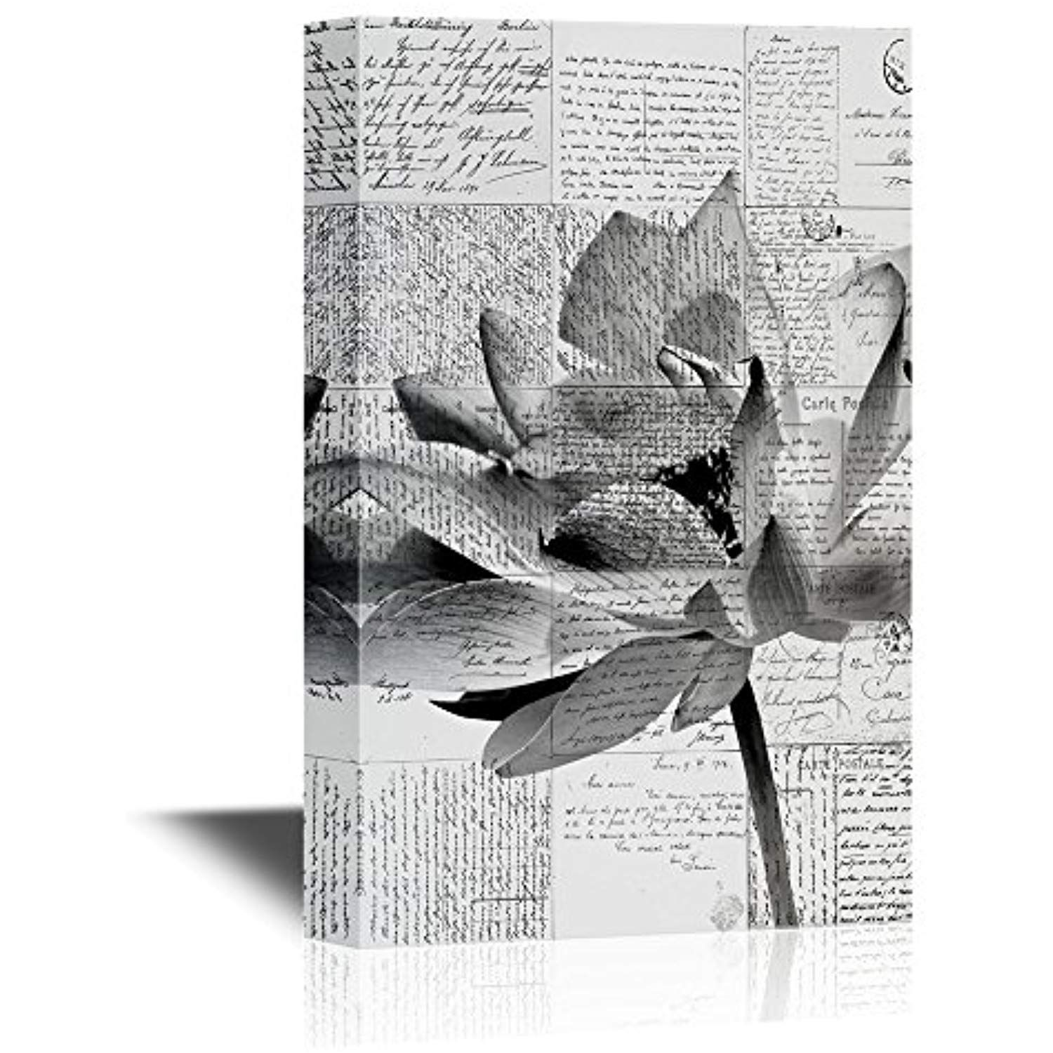 Canvas Art Wall Decor Lotus Flowers Gallery 12x18 inches Wall26