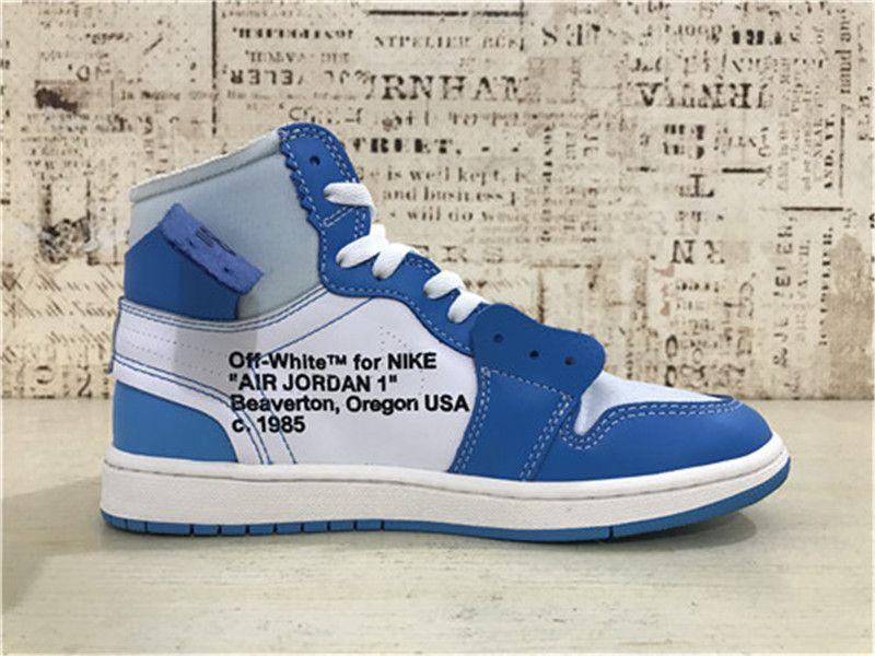 hot sale online e4c0f 693ba Off-White x Nike Air Jordan 1 Womens Shoes Blue White on www ...