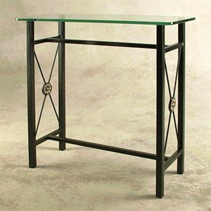 Grace Collection GMC-CO30 French Traditional/Gothic/Neoclassic/Rose Garden Console Entry Table with Glass Top