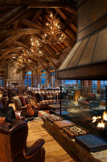 40 Rustic Living Room Ideas To Fashion Your Revamp Around: Cabin Interiors, Log