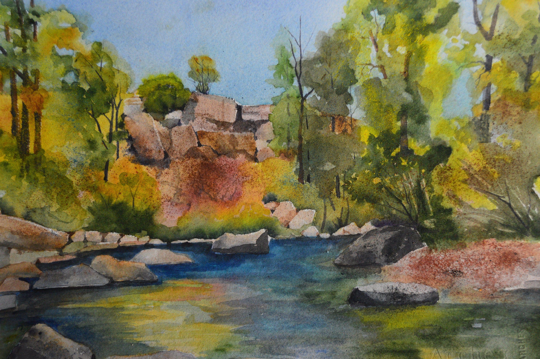 Original Water Art River Painting Fine Art Colorado Etsy River Painting Water Art Cabin Wall Art