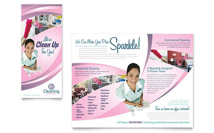 House Cleaning and Maid Services Brochure Template Design by ...