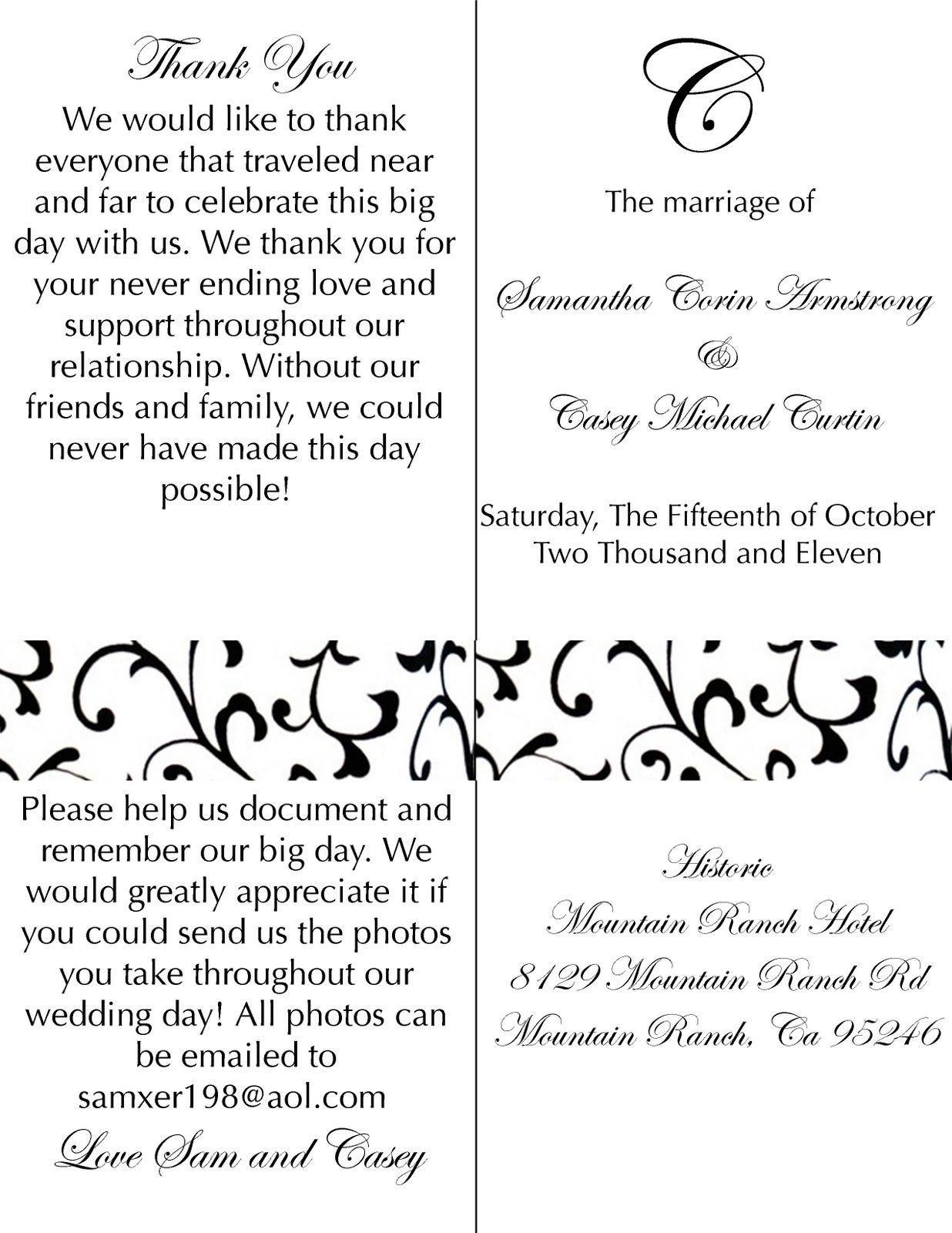 diy wedding programs front and back covers for sammykins