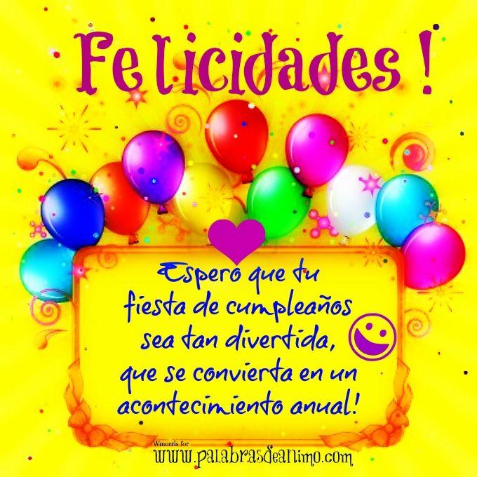 Imagenes de saludos para facebook saludo de cumplea os - Globos de cumpleanos ...