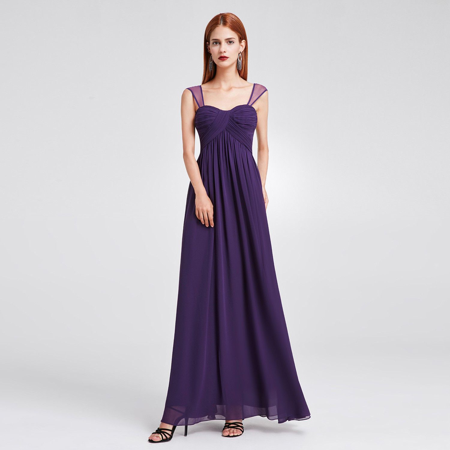 Cool awesome party evening dark purple wedding bridesmaid prom