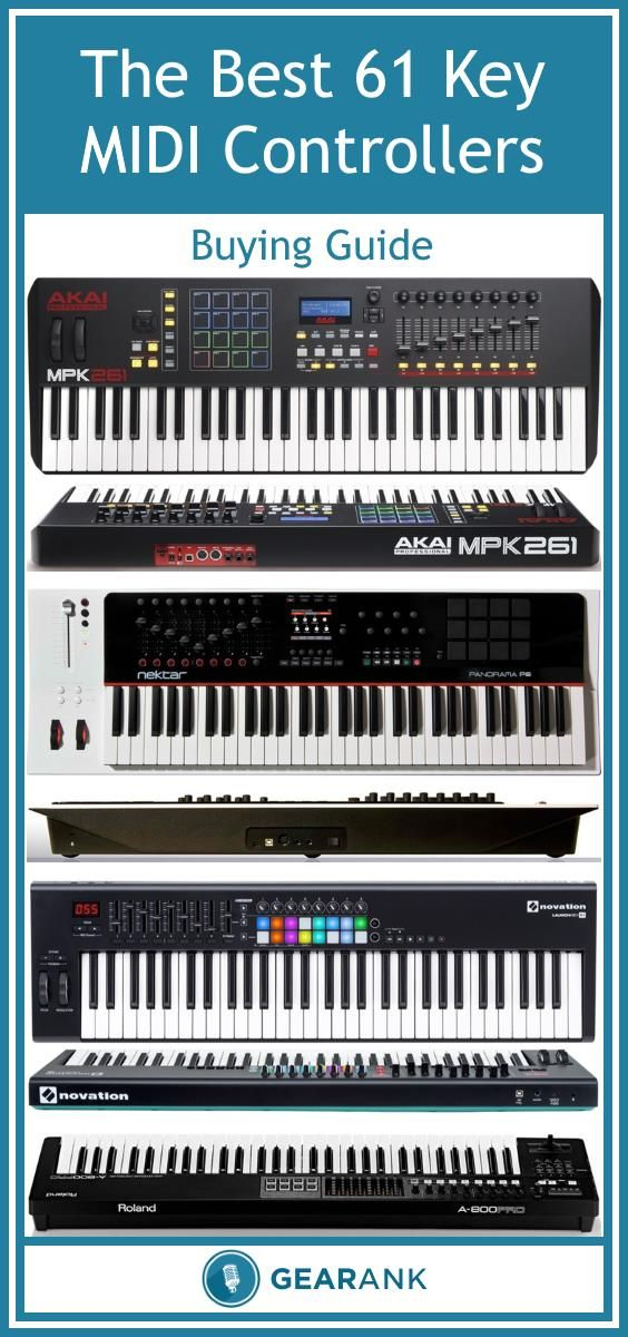 Detailed guide to the Best 61 Key MIDI Controller Keyboards  Covers