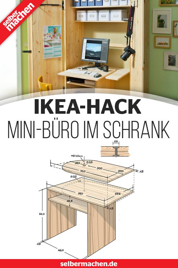 Ikea Hack Arbeitsplatz Im Schrank Wohnung Einrichten Tipps Arbeitszimmer Zuhause Buero