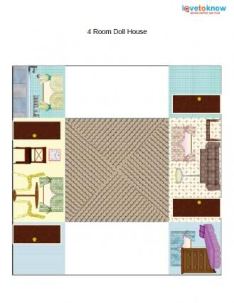 photograph relating to Printable Dollhouse referred to as Printable Paper Dollhouses TOYS OF PAPER Paper doll