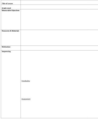 Visual Art Lesson Plan Template | Click To Download The Lesson