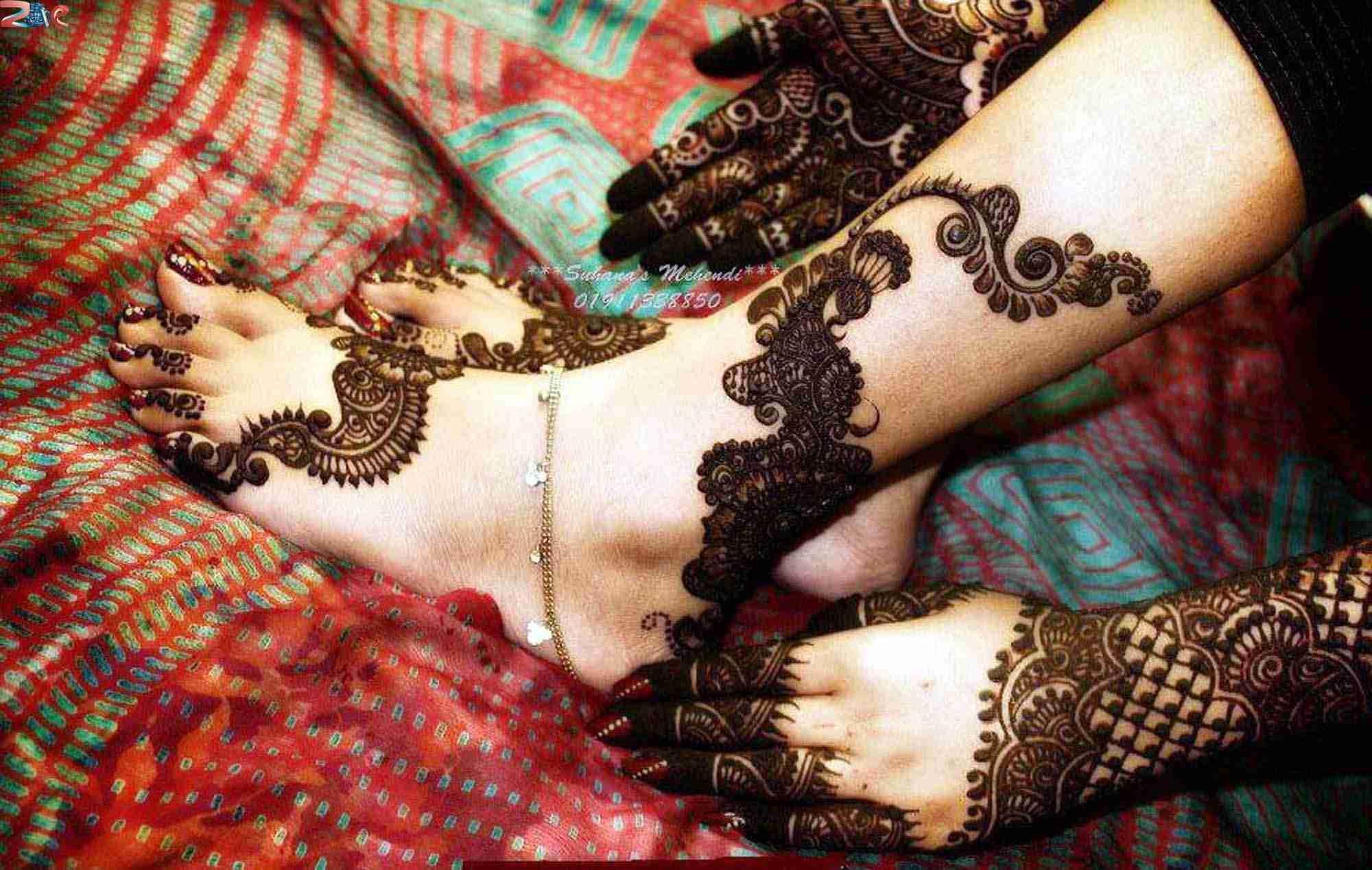 Mehndi Design Leg And Hand : Image result for arabic mehendi legs