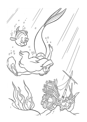 Arielle Die Meerjungfrau Ausmalbilder Disney Prinzessin Malvorlagen Malvorlage Prinzessin Ausmalbilder