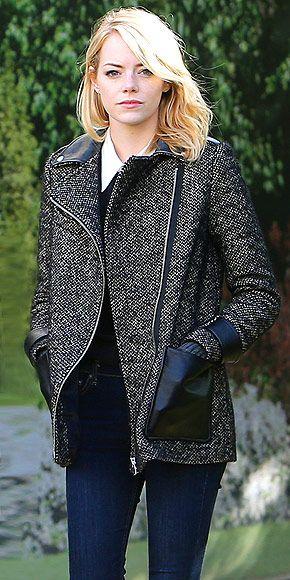 EMMA STONE'S COAT photo | Emma Stone