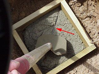 Porch Or Deck Foundation How To Build A Concrete Footing For A Deck Post Concrete Footings Deck Posts Deck Footings