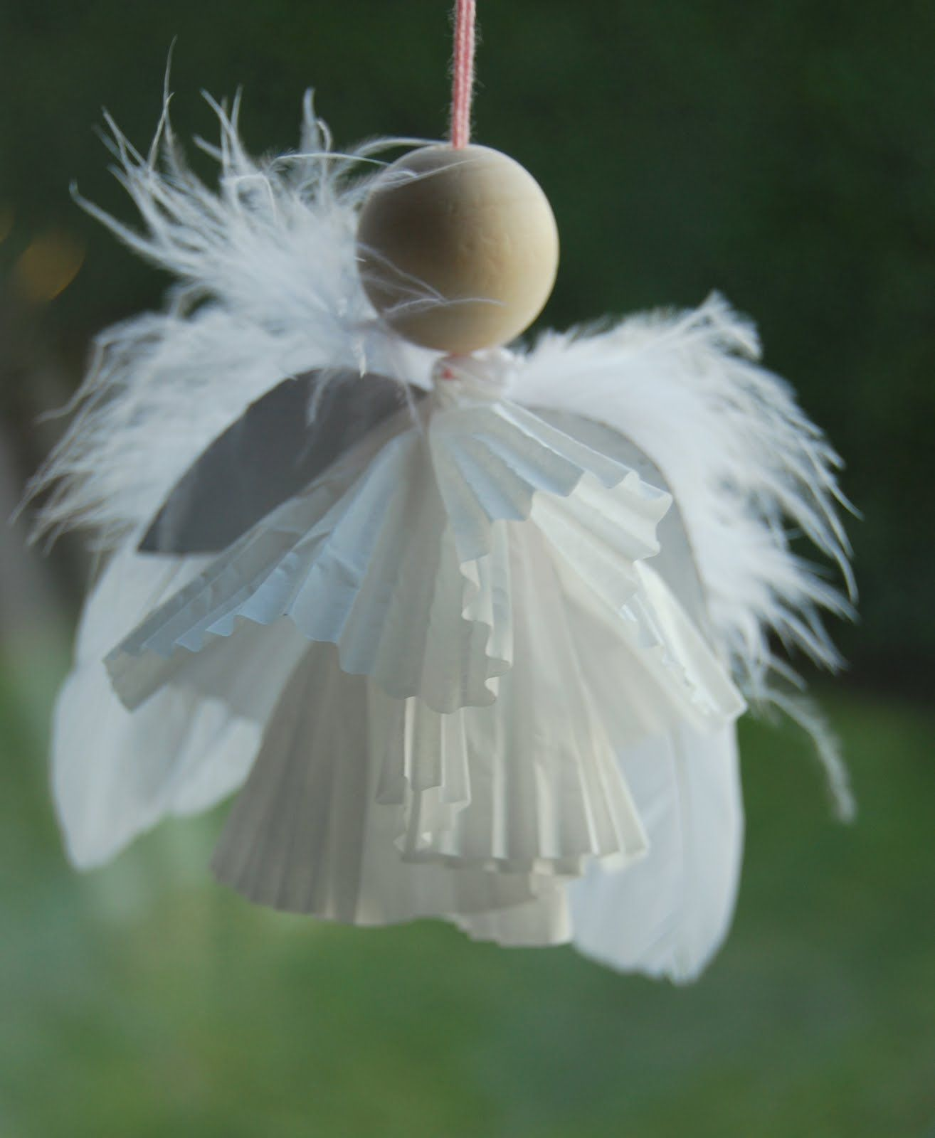 Muffin paper angel angels pinterest angel craft and xmas muffin paper angel jeuxipadfo Images