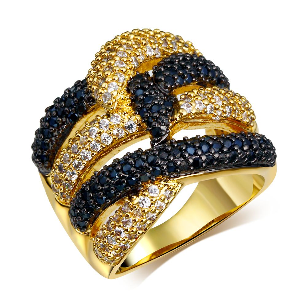 Find More Engagement Rings Information about Big White and black Ring Contrast Color real gold plated Cubic zircon Rings fine jewelry Free shipment Full size 6, 7, 8, 9, 10,High Quality ring bmw,China jewelry scissors Suppliers, Cheap ring jewelry silver from HY Fashion Jewelry on Aliexpress.com