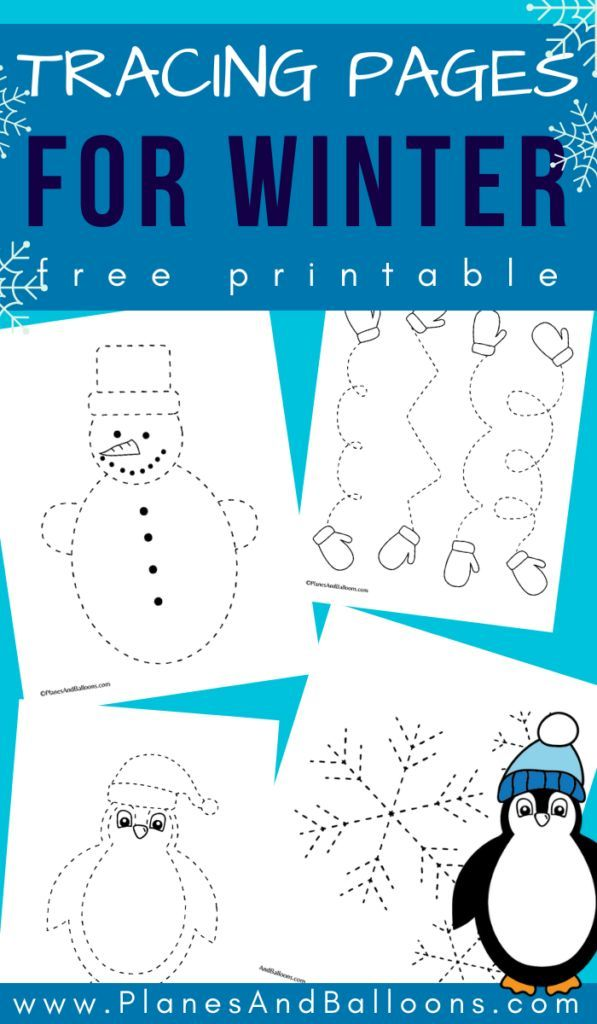 Winter tracing sheets - Planes & Balloons | Let's make learning fun!
