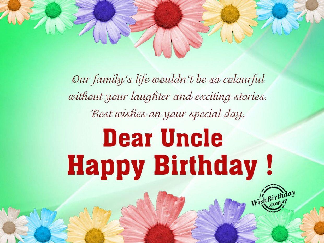 Uncle Happy Birthday Card Happy Birthday Fun Birthday Wishes For Uncle Birthday Cards For Brother
