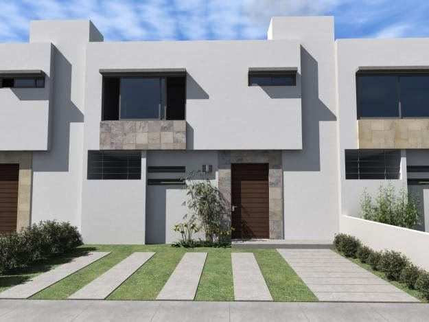 Fachadas de casas modernas fachadas modernas de casas en for Casas modernas y fachadas