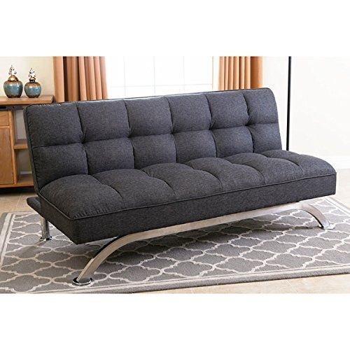 Abbyson Living Bella Grey Linen Tufted Futon Sofa Be * Read More Reviews Of  The Product By Visiting The Link On The Image. (This Is An Affiliate Liu2026