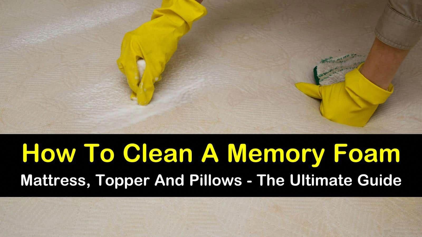 How to clean a memory foam mattress topper and pillows