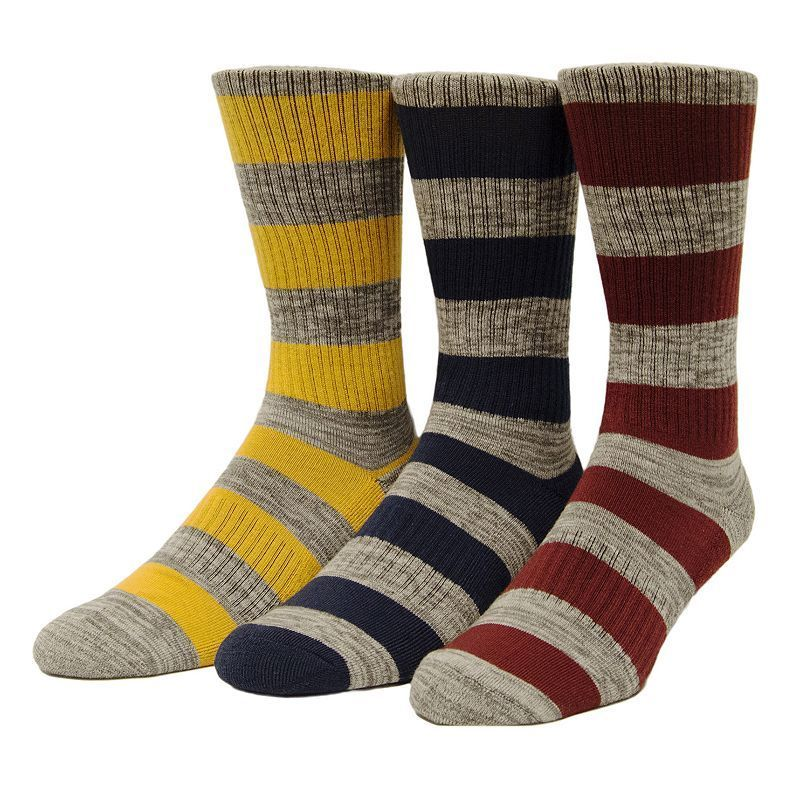 Men's Unionbay 3-pack Patterned Fashion Crew Socks, Size: 8-12,