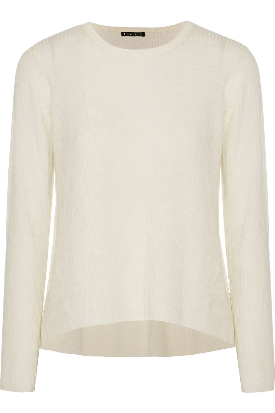 THEORY Ellyna ribbed merino wool sweater. #theory #cloth #sweater ...