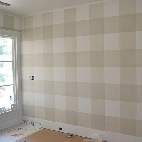 How To Paint Gingham Checked Walls Home Decor Home Decor