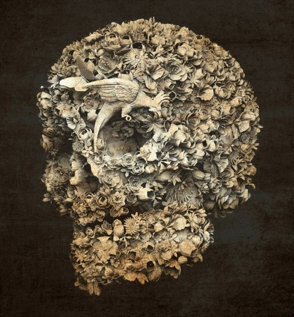 jacky-tsai-skull-flowers-3 via TrendLand