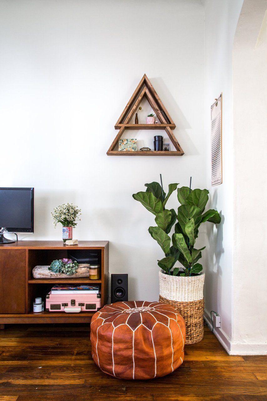 living room poufs%0A Courtney  u     Eric u    s Echo Park Charmer