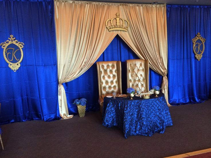 Royal Blue Gold And White Baby Shower   Google Search