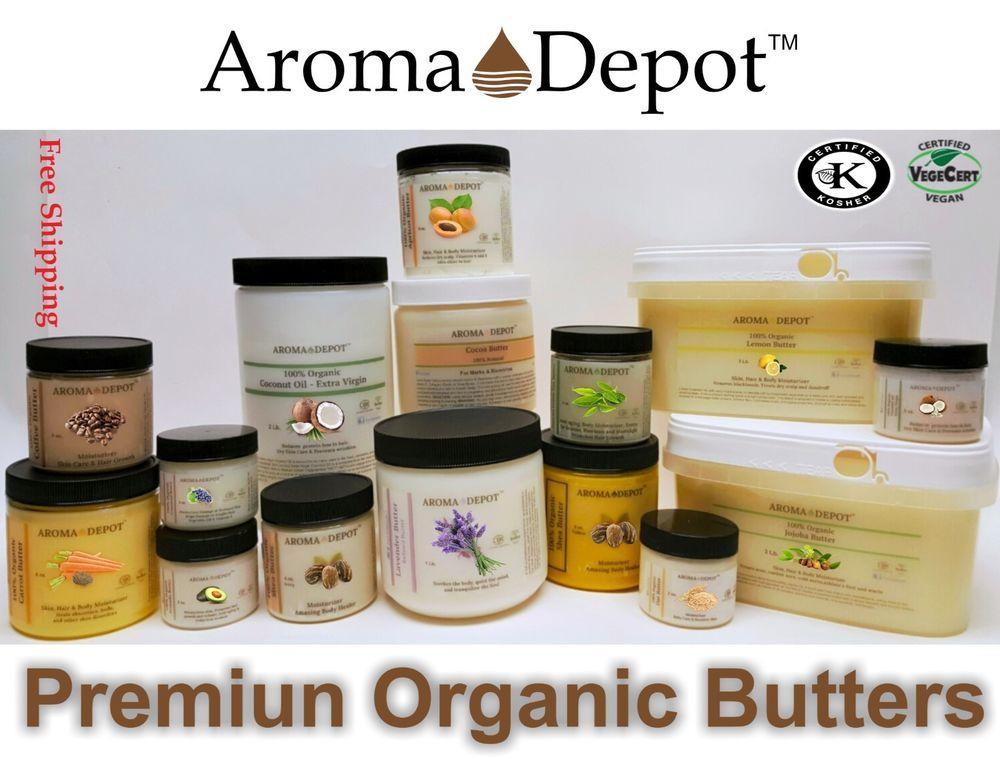 Premium Organic Butters 100 Pure Raw Fresh Natural Cold Pressed Hair Skin Body Ebay Premium Organic Pure Products Organic Butter