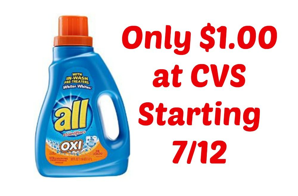 All Laundry Detergent Only $1.00 at CVS, Starting 7/12!