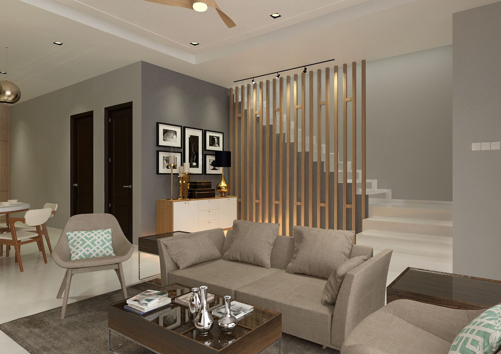 Contemporary Concept For Double Storey Terrace House Project By Chiio Occasions Living Room Designs Home Interior Design Interior Design Living Room
