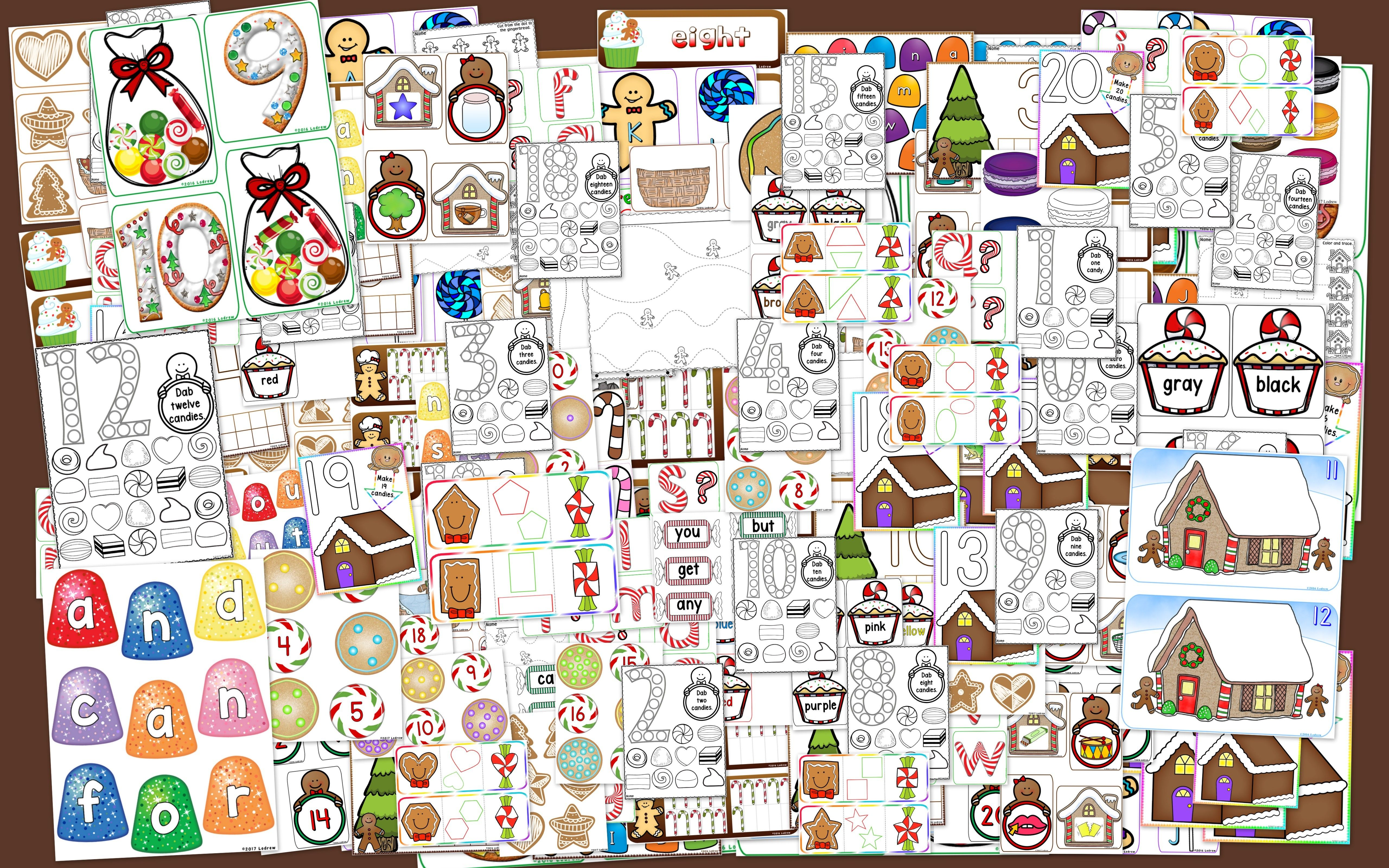 Gingerbread Centers Activities Christmas Centers Winter