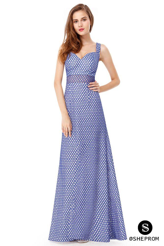 Royal Blue Sleeveless Long Party Dress - $56 #EP08961SB - SheProm ...